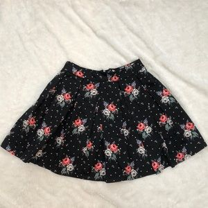 H&M floral pleated skirt
